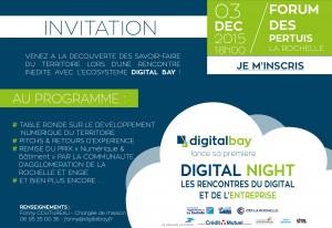 Invitation soirée digital bay la rochelle le 03 décembre 2015