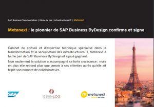 Témoignage client SAP ByDesign : Metanext